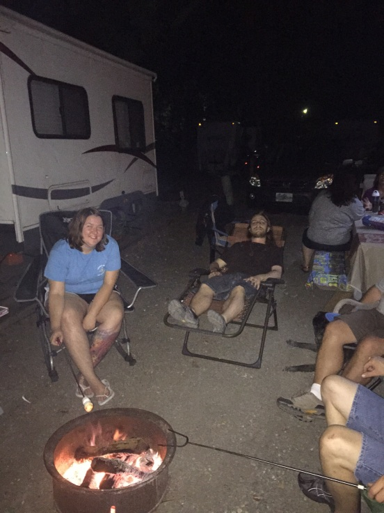 chilling by the campfire!
