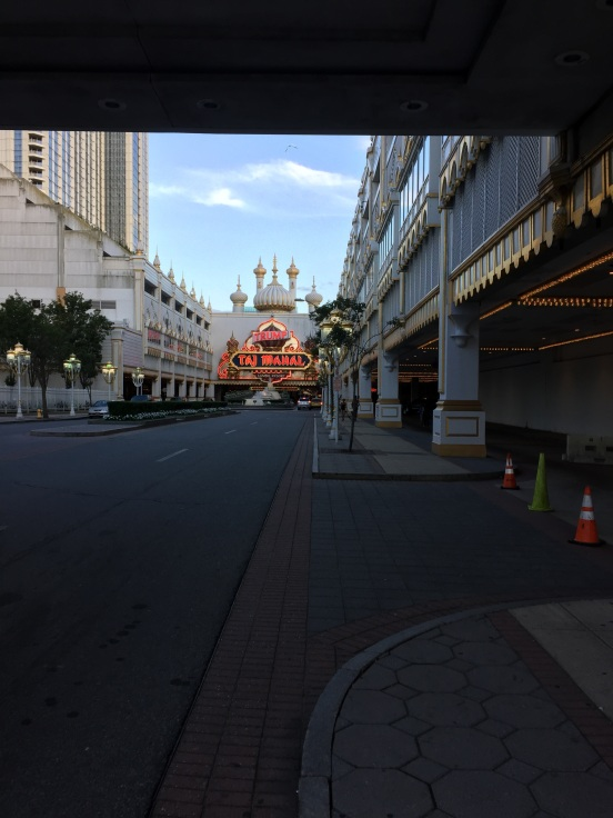 after picking them up at the Borgota, we headed closer to the boardwalk to park - ended up at Trump Taj Mahal