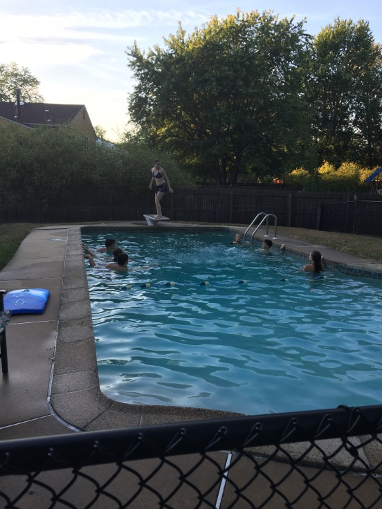 The pool gets a lot of use