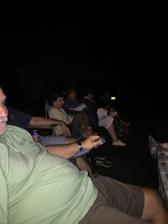 a fun thing we decided to do was movies on the driveway! It was a great idea - kids and adults both loved it!