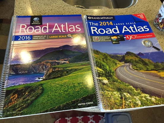 No - your eyes do not deceive you - a new atlas! Bill inherited the old one for the truck!