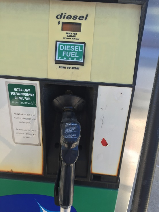 diesel pump is BLACK
