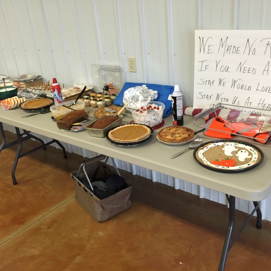 the ever important dessert table!
