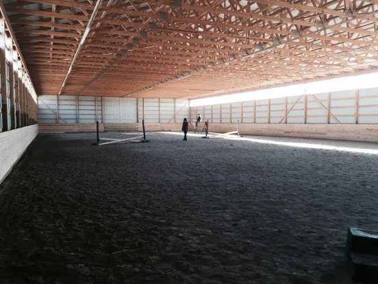 I got my lesson in this huge indoor arena