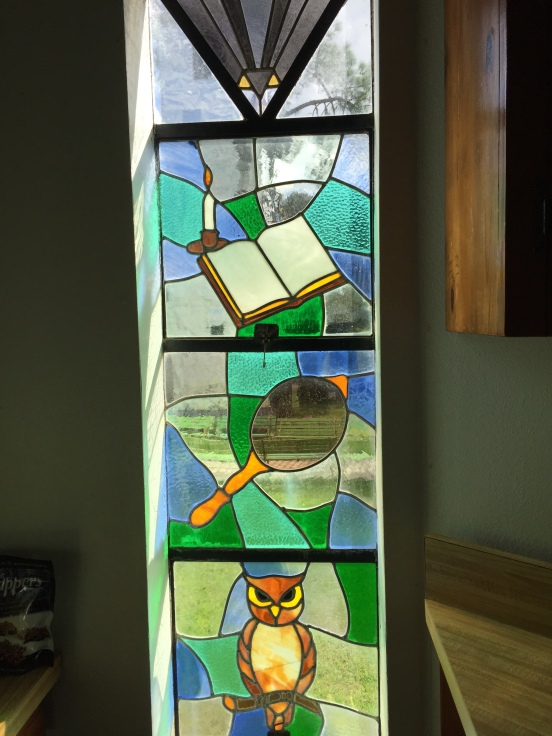 there was tons of stained glass the owner created himself