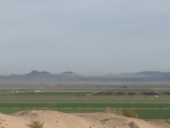 the wind was kicking up a lot of dust!