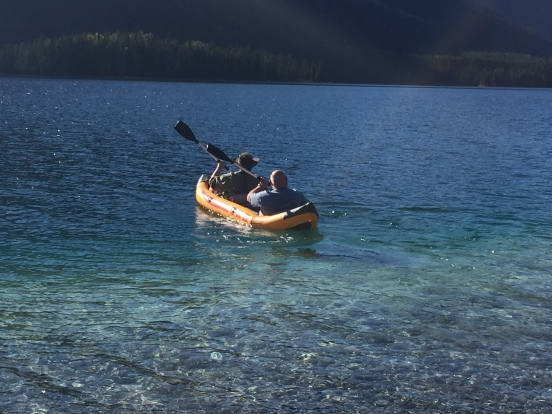 kayaking on Muncho Lake