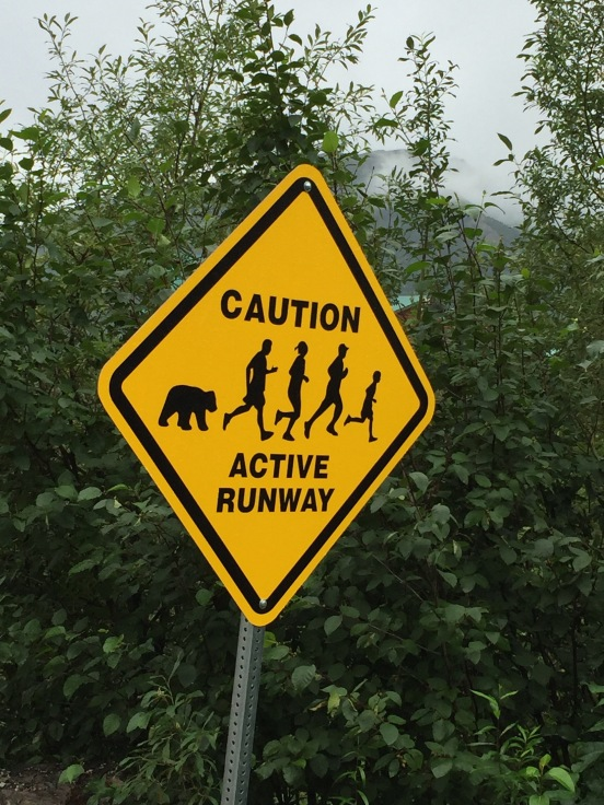 where else but in Alaska would you see this sign?